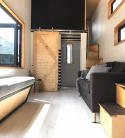Tiny House Black Modern 2 loft / 2 bedroom Family sized